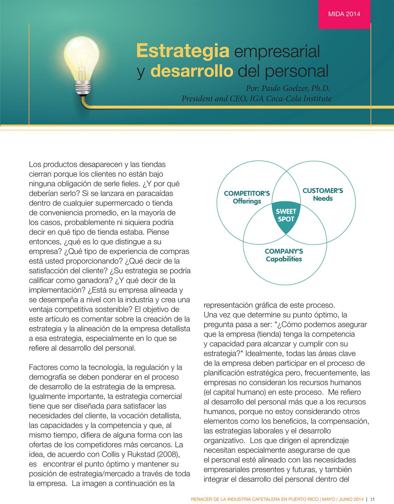 Estrategia empresarial y desarrollo del personal